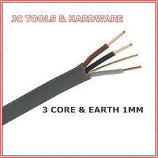 3 Core And Earth Cable 1mm Grey 5m 10m 15m 20m 25m 50m 100 metres 6243Y