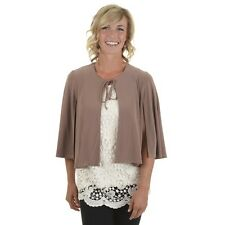 Journee Collection Women's Tie Front Bolero Cape Jacket. Free Delivery