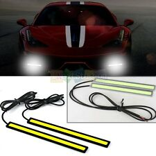 2 x Super Bright White Car COB LED Lights DRL Fog Driving Lamp Waterproof DC 12V
