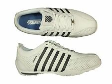 MENS TRAINERS K.SWISS ARVEE1.5 03941-166-M WHITE LACE UP LEATHER ALL SIZES 6-12