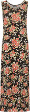 Womens Plus Floral Maxi Long Dress Print Sleeveless Stretch Ladies 14-28