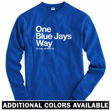 Toronto Baseball Stadium Long Sleeve T-shirt - LS Men S-4X - Blue Jays Ontario