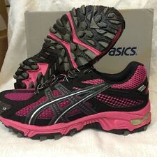 ASICS GEL-Trabuco 13 GS Running Shoes 3.5Y Thru 6.5Y Onyx/Blk/Pink