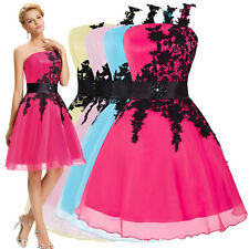 Pink/White Bridesmaid Sleeveless Wedding Prom Dress Party Evening Cocktail Gowns