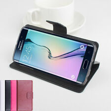 """Folio Stand Leather Case Cover For 5.1"""" Samsung Galaxy S6 Edge G9250 Smartphone"""