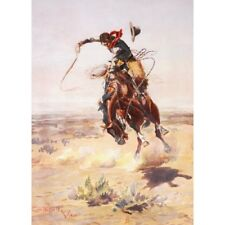 CM Russell - A Bad Hoss - 1904 Western Cowboy Rodeo Art Vintage-Style Poster