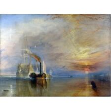 JMW Turner - The Fighting Temeraire 1839 Classic Art Vintage-Style Poster