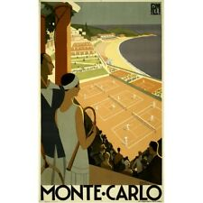 Monte Carlo Travel Advertisement Vintage-Style Poster