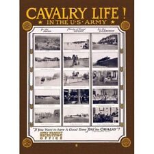 WWI Recruitment Ad Cavalry Life! In the US Army Vintage-Style Poster