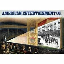American Entertainment Co. 1898 Moving Pictures Movies Ad Vintage-Style Poster