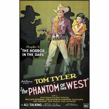 Phantom of the West #3 Horror in the Dark 1931 Movie Serial Vintage-Style Poster