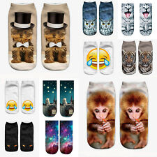 Fashion 3D Printed Socks Casual Animal Women Unisex New Cute Low Cut Ankle Socks