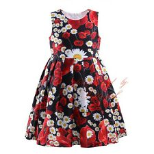 Baby Kids Flower Girls Toddler Princess Birthday Pageant Summer  Floral Dresses