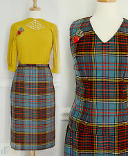 TARTAN two piece LADIES SKIRT SUIT 1940'S style plaid 10 12 38