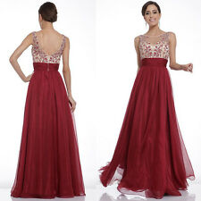 Lady Formal Long Prom Evening Party Cocktail Bridesmaid Wedding Maxi Dress