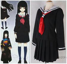 Hell Girl/Jigoku Shoujo Ai Enma School Sailor uniform cosplay Costume dress