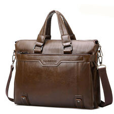 Men's Vintage Leather Business Briefcase Handbag Messenger Shoulder Laptop Bag