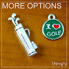 Golf charms ~OPTIONS~ club bag ball tee player gift DIY pendant jewelry key ring