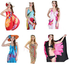 Sexy Womens Chiffon Beach Bikini Cover Up Wrap Scarf Pareo Swimwear Sarong Dress