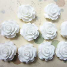 30pcs/lot 7 Colors Resin Rose Flower flatback Appliques For DIY phone/craft