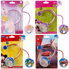 KIDS CHILDRENS DISNEY CLIP ON LED READING BOOK NIGHT LIGHT FLEXI NECK TORCH