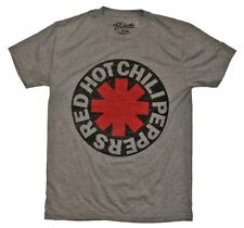 Red Hot Chili Peppers RHCP Asterisk Logo Rock Music Band Men's Gray T-Shirt