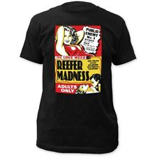 Reefer Madness The Love Weed Adults Only Men's Black Cotton Fitted T-Shirt