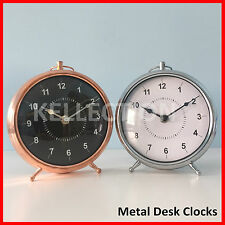 Metal Desk Clocks Vintage Clocks Battery Bedside Analogue