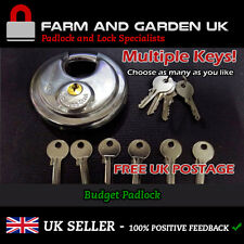 Heavy Duty Stainless Steel 70mm Disk Padlock with as many keys as you need