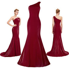 Women Long WINE RED Evening Dress Formal Ball Gown Graduation Prom Party Dresses
