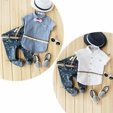 Baby Kids Boy Girl Cute Party T-shirt+Jeans Pant Outfit Clothes 2PC Set Size 2-7