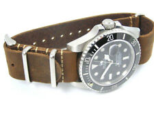 LEATHER NATO® WATCH STRAP FOR OMEGA SEAMASTER SPEEDMASTER PLANET OCEAN 20mm 22mm