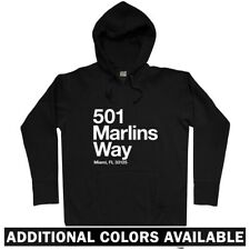 Miami Baseball Stadium Hoodie - Hoody Men S-3XL - Marlins MIA Beach Florida Fan