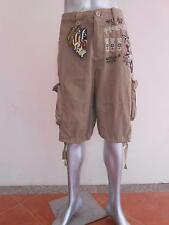 Minute Mirth Soldier Air Force Bomber Shorts Cargo Light Brown Beige MMS73