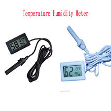 LCD Digital Thermo-hygrometer Temperature Humidity Gauge Tester Device w/Probe