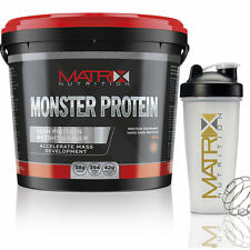 4KG MATRIX NUTRITION MONSTER PROTEIN - WEIGHT GAINER -SERIOUS MASS- ALL FLAVOURS