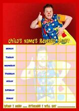 MR TUMBLE PERSONALISED REWARD CHART WITH FREE STICKERS AND PEN