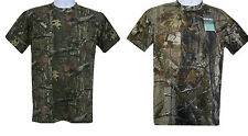 Mens Real Tree Camouflage Camo  Forest Jungle Print T Shirt Short Sleeve Top
