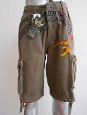 "Minute Mirth Tattoo Thunder Skull Pilot Shorts Cargo size 34"" 36"" 38""40""  MMS76"