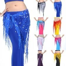 Belly Dance Tribal Hip Triangle Scarf Sparkly Sequins Shawl Dancing Costume 1MK