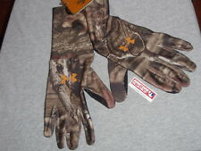 NEW Under Armor Mossy Oak Infinity Camo Gloves Size Large Rubber Grip FREESHIP