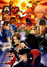 Marvel vs. Capcom Mash up 22inx32in wall poster USA SELLER FAST FREE SHIPPING