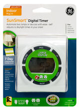 Jasco Products 15079 Sun Smart Digital Timer, Plug-In, 7-Day, White