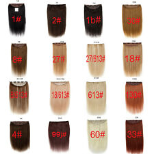 130g thick one piece clip in remy human hair extensions full head set 100% real