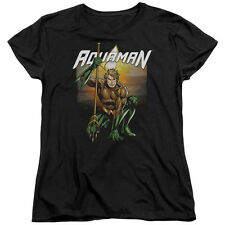 AQUAMAN BEACH SUNSET Licensed Women's Graphic Tee Shirt SM-2XL
