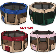 Oxford Portable Soft Pet Puppy Tent Dog Cat Playpen Fabric Fence Exercise Crate