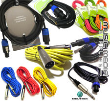 Colour Microphone Lead Mic Cable XLR Jack Patch Lead Balanced Male to Female 867