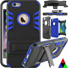 Belt Clip Holster+Card Holder+Stand Tough Case Cover For Apple iPhone 6 6s Plus