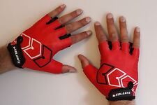 BNWT Half Finger Sports Summer Cycling Gloves Lycra and Gel Palm Silicone*£2.99*