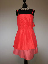BNWT Lucy Meck Drama Queen Towie Pink Tiered Mini Party Club Dress Size 10 12